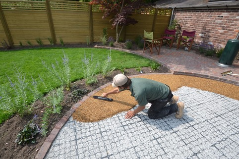 Resin bound gravel patio area in Wilmslow